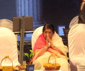 Melody queen Lata Mangeshkar during the celebration of her 75 glorious years of musical journey in Mumbai on Oct 26, 2017.