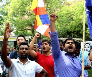 Demonstration against Kerala Dalit woman's murder