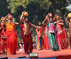 Bharat Scouts and Guides perform during their annual function
