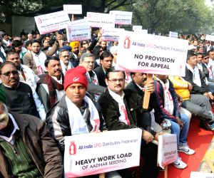 Federation of LPG Distributors of India protest