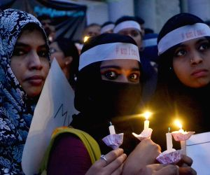 Protest against rape and atrocities on women