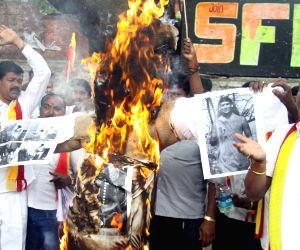 Demonstration against Nithyananda Swami