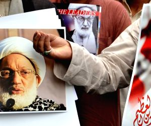 Majlis-e-Ulama-e-Hind demonstration against governments of Bahrain, Saudi Arabia and Israel