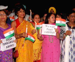 Candle light march at Attari/Wahga Indo-Pak border