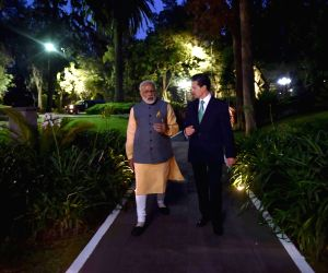 Mexico City:  Modi with Mexican President