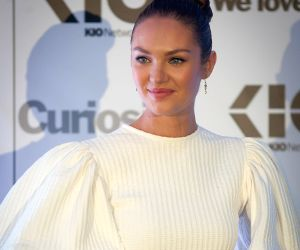 Mexico City: South African model Candice Swanepoel takes part in a promotion event