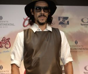 Mexico City:  A press conference to announce the premiere of the film Cantinflas