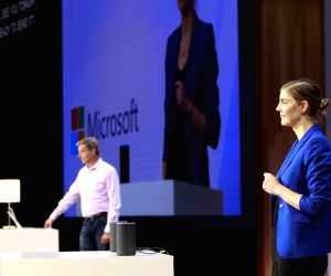 """Microsoft and Amazon showcase the first-ever coming together of Cortana and Alexa - their two Artificial Intelligence (AI)-powered assistants at the """"Build 2018"""" developers' conference in ..."""