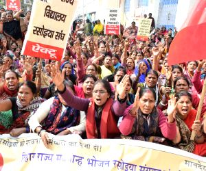 Mid-day meal workers' demonstration