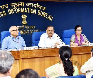 Rakesh Srivastava's press conference on TECH-THON for POSHAN Abhiyaan