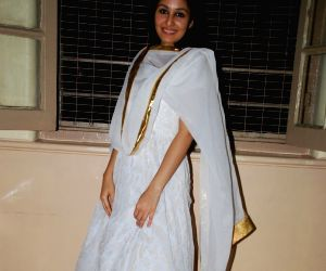 Miss India Pooja Chopra meets Sex workers in Mumbai on Friday evening.