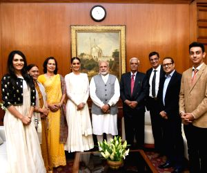 Miss World 2017 Manushi Chhillar meets PM Modi