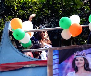 Miss World 2017 Manushi Chillar during a roadshow
