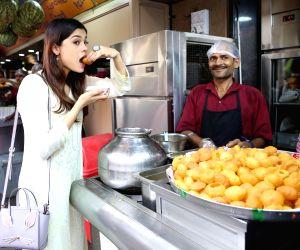Asha Bhat seen at a Bandra Pani Puri Centre
