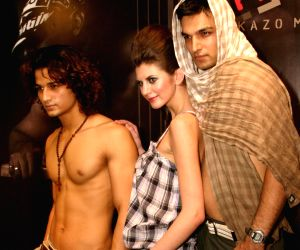 """Models at the launch of """"Kazo""""s New Man Line, in New Delhi on Tuesday."""