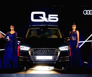 Models with the newly launched Audi Q5 in Bengaluru.