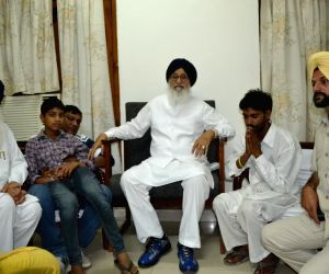 Punjab CM visits the family of Moga bus tragedy victim