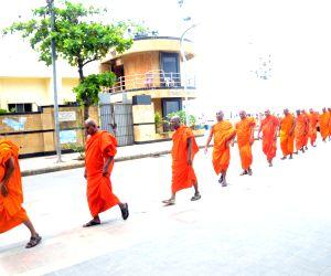 Monks at Chaitya Bhoomi