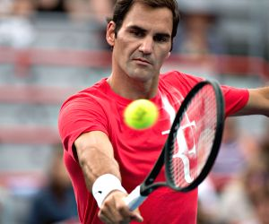 CANADA-MONTREAL-ROGERS-CUP-PRACTICES-ROGER FEDERER