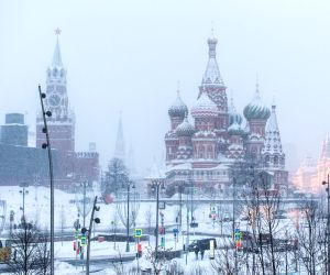 RUSSIA-MOSCOW-SNOWFALL