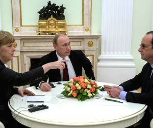 RUSSIA MOSCOW GERMANY FRANCE LEADERS TALKS UKRAINE CRISIS
