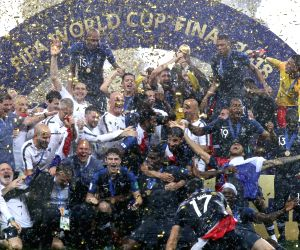 West Bengal's Chandannagar celebrate's France's World Cup win