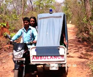Motorcycle-ambulances help saves lives in Chhattisgarh forests