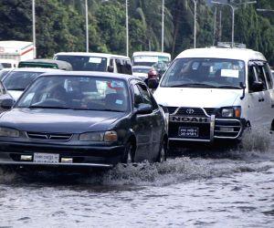 Dhaka (Bangladesh): Traffic congestion due rains