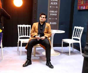 "Mumbai: Actor Arbaaz Khan during the shooting of his upcoming film ""Sridevi Bungalow"" in Mumbai on July 15, 2019. (Photo: IANS)"