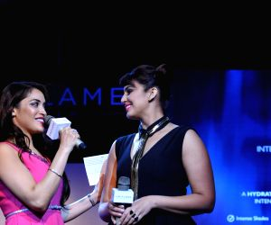 : Mumbai: Huma Qureshi launch Oriflame's The One cosmetics range