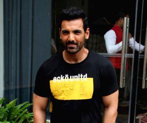 "Mumbai: Actor John Abraham during the promotions of his upcoming film ""Batla House"" in Mumbai on Aug 6, 2019. (Photo: IANS)"