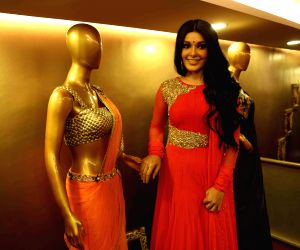 Koena Mitra during a fashion store launch