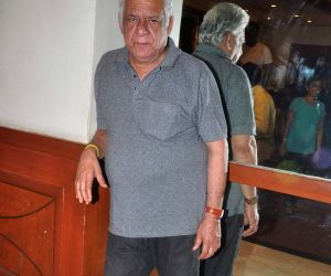 Om Puri at the Film Promotion of Project Marathwada