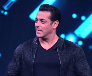 """Mumbai: Actor Salman Khan on the sets of a dance reality show """"Super Dancer chapter 3"""", in Mumbai on May 27, 2019. (Photo: IANS)"""