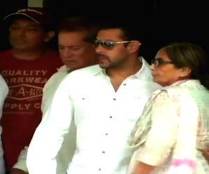 Salman Khan before leaving for the court