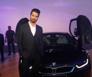 Launch of BMW i8 hybrid sports car