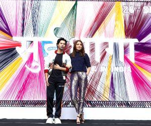 "Mumbai: Actors Varun Dhawan and Anushka Sharma at the trailer launch of their upcoming film ""Sui Dhaaga - Made In India"" in Mumbai on Aug 13, 2018. (Photo: IANS)"