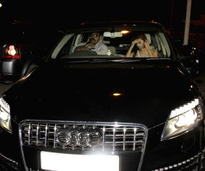 Actress Alia Bhatt spotted travelling at midnight in her Audi Q7 car