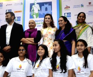 Diya Mirza during a programme organised to announce Standard Chartered Mumbai Marathon