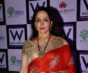 Hema Malini during a program