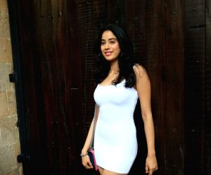 Mumbai: Actress Janhvi Kapoor arrive to attend actress Sonam Kapoor's birthday party at Anil Kapoor's house in Mumbai on June 9, 2019. (Photo: IANS)