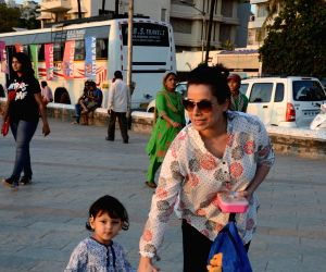 Neelam spotted with her daughter Ahana Soni