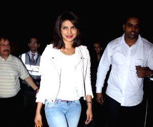 Katrina and Priyanka spotted at airport