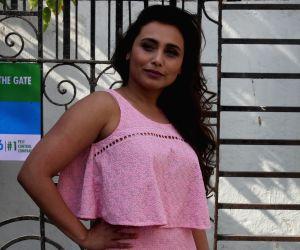 Rani Mukerji snapped at Famous Studios