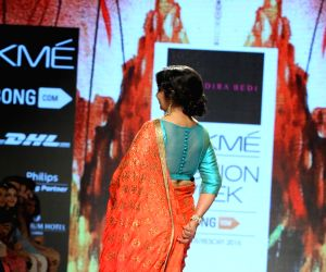 Mandira Bedi show at Lakme Fashion Week Summer Resort 2015  - Day 6