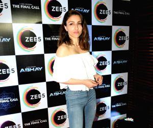 "Mumbai: Actress Soha Ali Khan at the success party of her husband Kunal Khemu's webshow ""Abhay"" by Zee5, in Mumbai, on May 30, 2019. (Photo: IANS)"