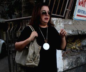 Mumbai: Choreographer-filmmaker Farah Khan seen in Mumbai's Juhu, on May 14, 2019. (Photo: IANS)