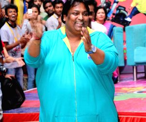 Ganesh Acharya during promotion of 'Hey Bro'