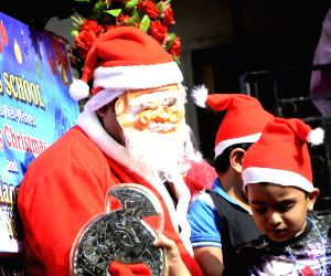 Christmas celebrations underway at a Mumbai school