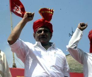 """Sitaram Yechury at """"Maharashtra Right"""" rally"""